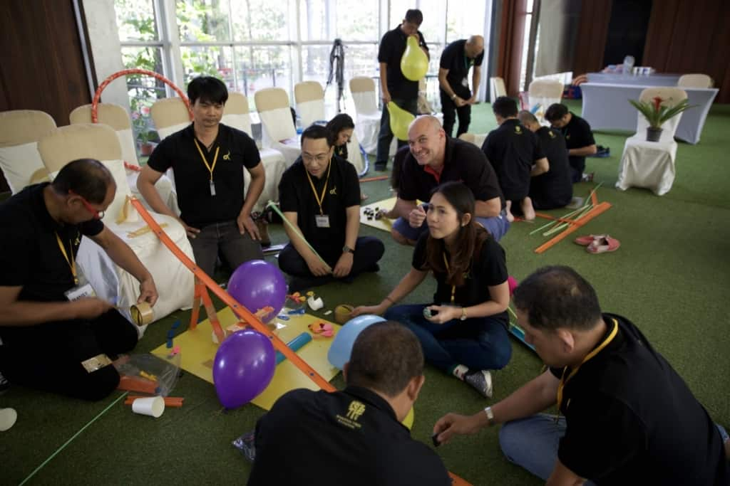 chain reaction team building bangkok thailand